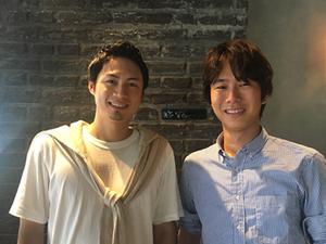 代表の鈴木とインターンの郷中くん。とても優秀で多くの仕事を任せています