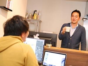 カフェの様な落ち着いたオフィスも魅力の一つです。