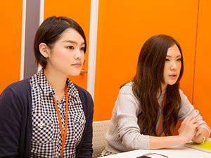 事業開発部の野上(右)と津崎(左)です。両名ともにリクルート出身なので人材業界のプロフェッショナルがあなたを鍛えます!