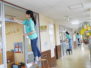 子どもが安心して過ごせるように環境整備をしっかり行います。