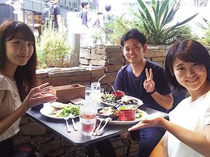 昼休みには、渋谷のお洒落なカフェを開拓中できます♪