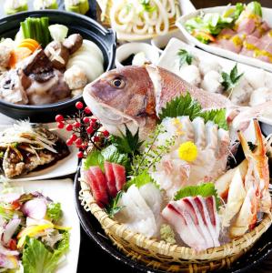 季節の食材にこだわっているので、宴会コースは毎月変わります。