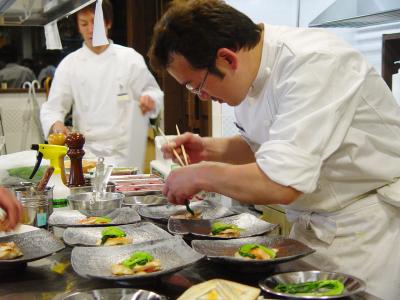日本人の口にも合うよう考えられた料理は、古都・奈良の食材を使用した本格フレンチがベース