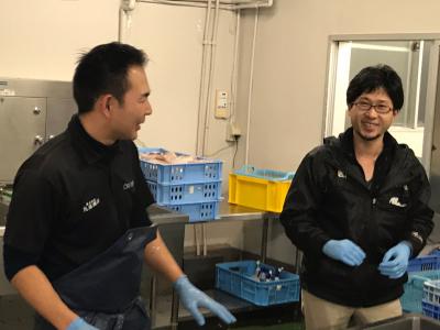 魚の扱いに関する様々なスキルが身につくお仕事です。作業場は明るく清潔に保たれます。