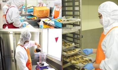 調理・下処理・調味料計量の作業シーン