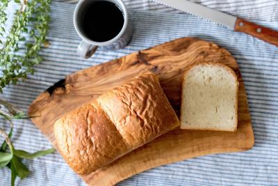 自家製の食パンも自慢です!