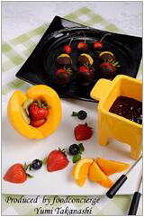 チョコダイエット!「なめらかプリンとフルーツのチョコフォンデュ」-02
