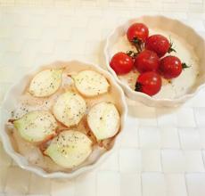 ダイエットのためのお弁当「トマトとペコロスのグリル」-03