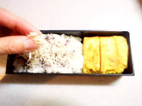 ダイエットのためのお弁当「梅とおじゃこのさっぱりごはん」-06