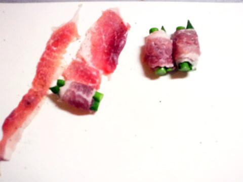 ダイエットのためのお弁当「グリーンアスパラの豚ロース巻き」-03