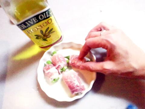 ダイエットのためのお弁当「グリーンアスパラの豚ロース巻き」-04