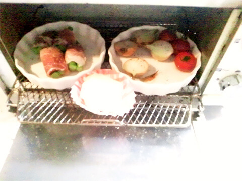 ダイエットのためのお弁当「グリーンアスパラの豚ロース巻き」-05