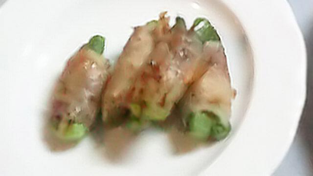 ダイエットのためのお弁当「グリーンアスパラの豚ロース巻き」