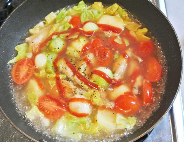 トマトとコロコロ野菜のコラーゲンスープの簡単レシピ-13