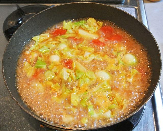 トマトとコロコロ野菜のコラーゲンスープの簡単レシピ-14