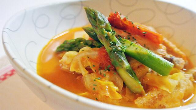 トマトとコロコロ野菜のコラーゲンスープの簡単レシピ