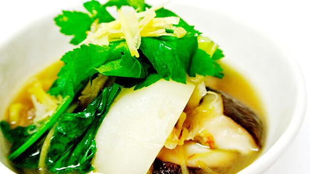 生姜と鶏肉のスープ[調理]