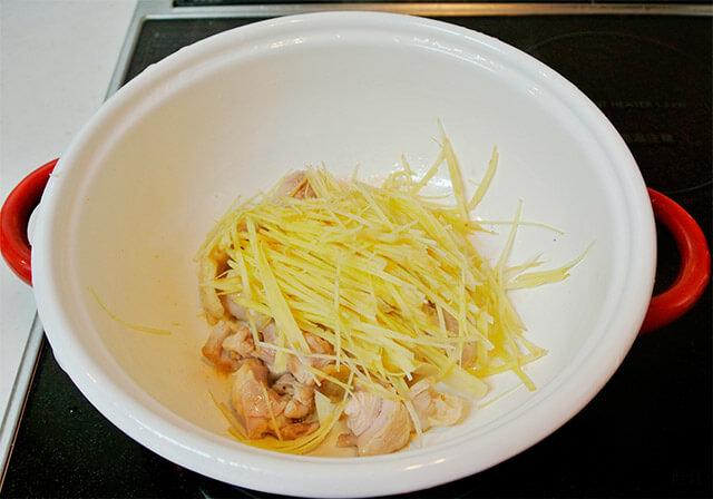 生姜と鶏肉のスープ[調理]-11