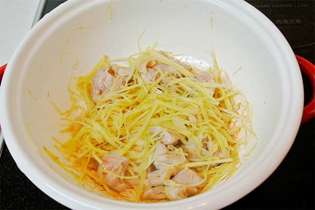 生姜と鶏肉のスープ[調理]-12