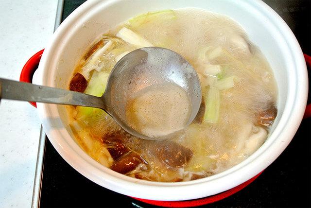 生姜と鶏肉のスープ[調理]-16