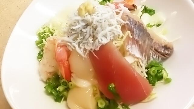 コンビニ弁当の食べ分け術「海鮮サラダ」