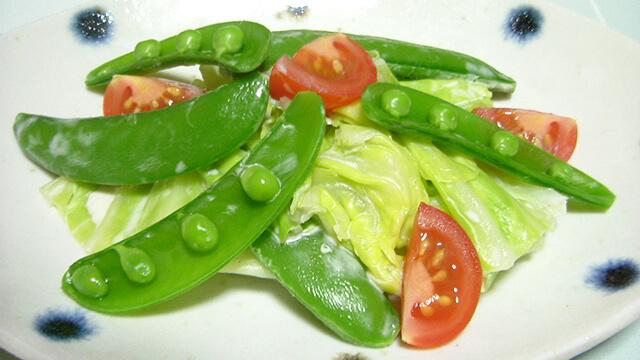 キレイになるためのレシピ「スナップえんどうと春キャベツのサラダ」