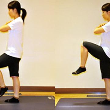 1分間の運動で美尻になれる「ニーアップ」エクササイズ
