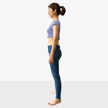 お腹ポッコリの原因と解決法「後ろ体重さんのための背筋ピーン」