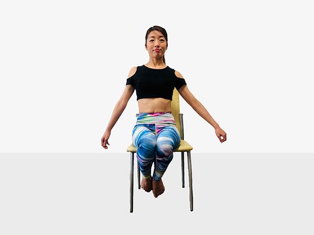テレワークで運動不足の人にお勧めしたい「側筋しぼり&腹筋②」_06