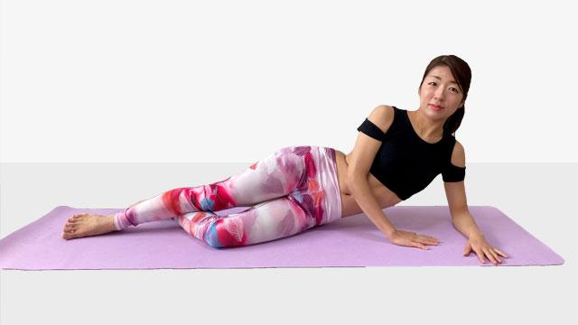 お尻の筋肉を鍛えるトレーニング『美尻トレ究極の横向きヒップメイク』