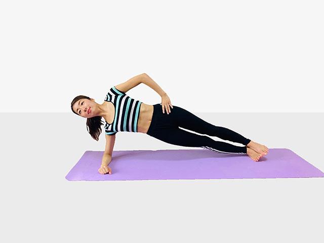 お腹を引き締めるプランク♪♪ぽっこりお腹や姿勢を改善出来るトレーニング_02