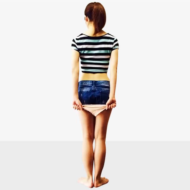 服で隠せない箇所の部分痩せ「つまった首を細く長くエクササイズ」-04
