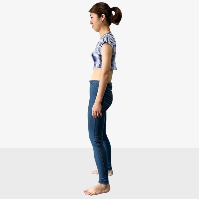 お腹ポッコリの原因と解決法「後ろ体重さんのための背筋ピーン」-01