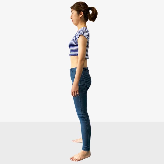 お腹ポッコリの原因と解決法「後ろ体重さんのための背筋ピーン」-02