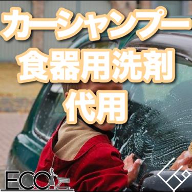 カーシャンプーは食器用洗剤で代用はできる?簡単に車の洗浄を行おう!