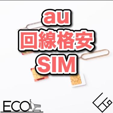 【比較】au回線格安SIM人気おすすめランキング13選