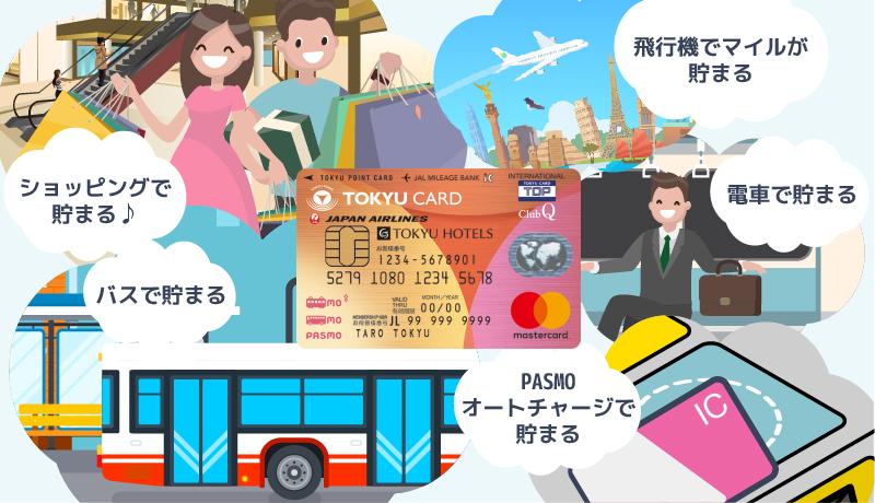 東急カードはポイント最大10%の高還元率! 電車・バス利用でさらにおトクに!