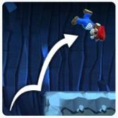 崖のぼりジャンプ