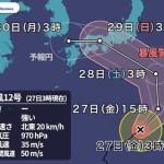 【疑問】台風がヤバイが明日のイベントはどうなる?これ強行したら問題になるんじゃ...