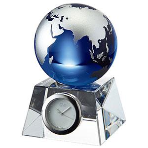 NARUMI グラスワークス ブルーアース卓上時計 S