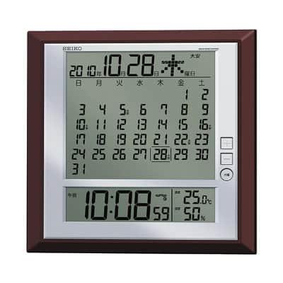 落ち着いたデザイン、機能性に優れたセイコークロック社の電波掛置兼用時計 SQ421B