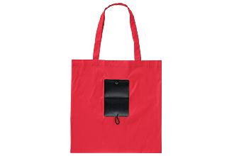 ポリエステル マチなし折りたたみトートバッグ(既製品)W415×H415