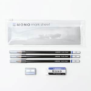 トンボ鉛筆 モノマークシート用鉛筆セット ポーチ入