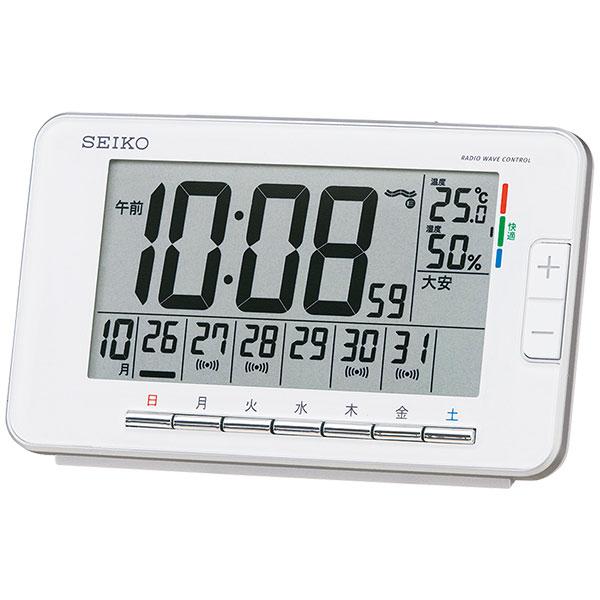 セイコークロック デジタル電波時計 ウィークリーアラーム SQ774
