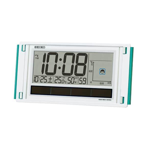 セイコークロック デジタルソーラー電波時計 環境NAVI SQ436W