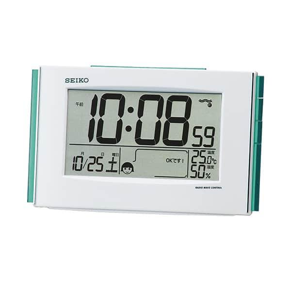 セイコークロック デジタル電波時計 環境NAVI SQ776W
