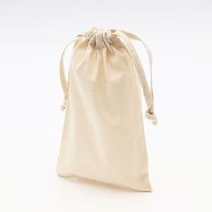 無漂白コットン巾着 Sサイズ マチなし (既製品) 260×170mm