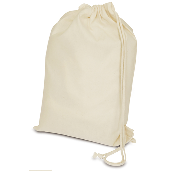 無漂白コットン ショルダー巾着 A3 マチなし (既製品) 450×300mm
