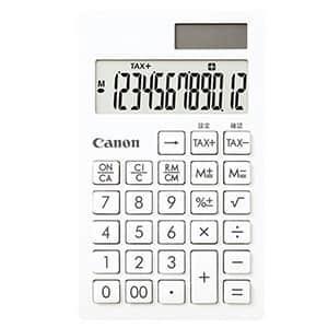 キヤノン 名入れが目立つ ピュアホワイト電卓 手帳タイプ 12桁 SI-12T