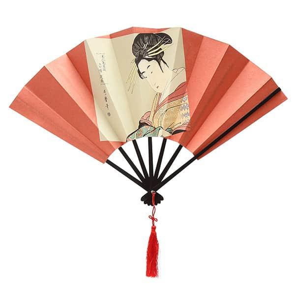 伏見上野 飾り扇子 版画扇 歌麿花扇